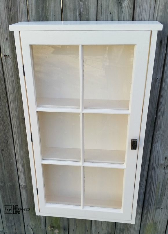 How To Make A Window Cupboard Using An Old Window. This Wall Cabinet Is An  Easy Build Even For A Beginner As A Weekend Project.