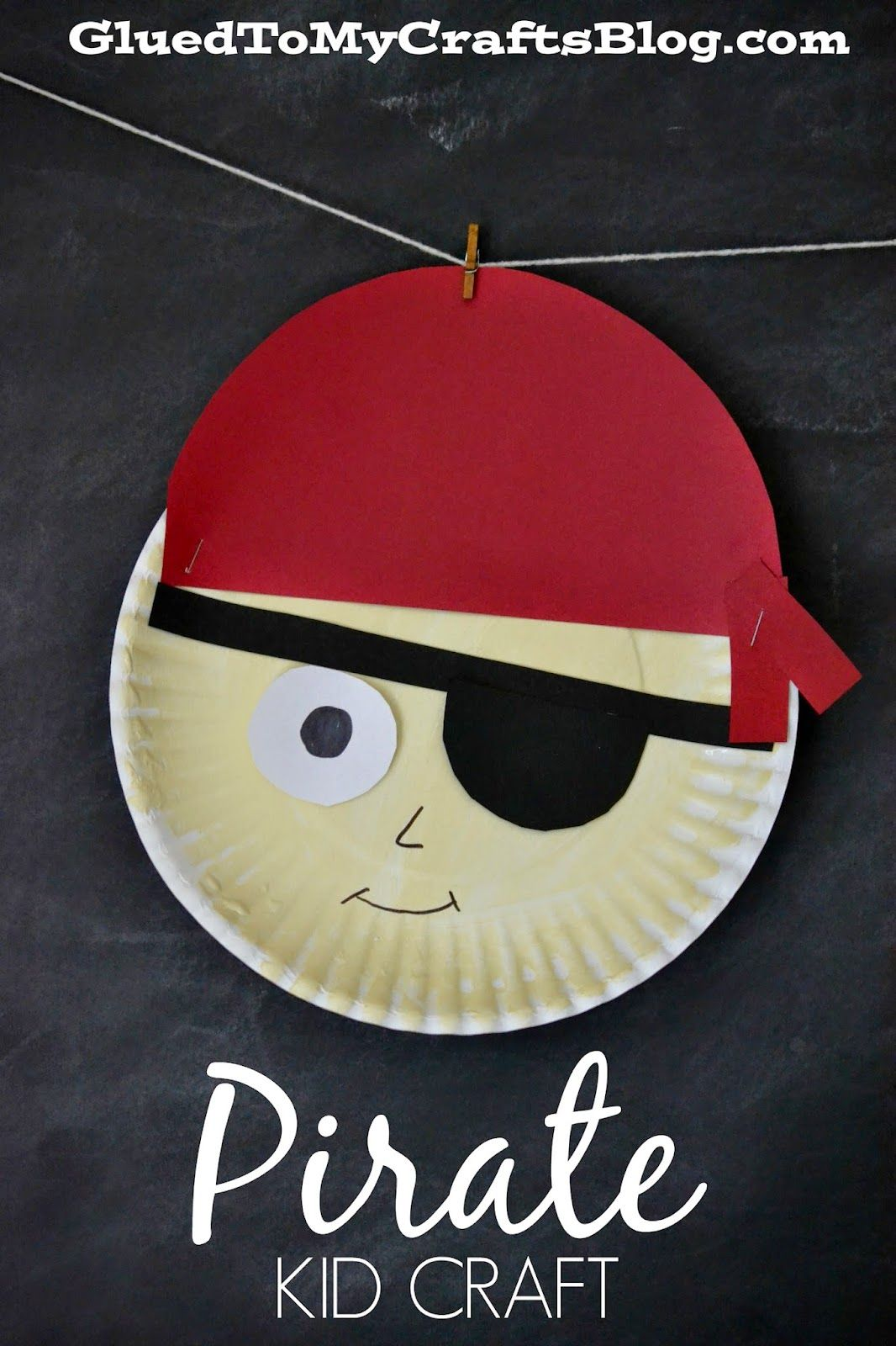 Pirate crafts for toddlers - Pirate Kid Craft Paper Plate