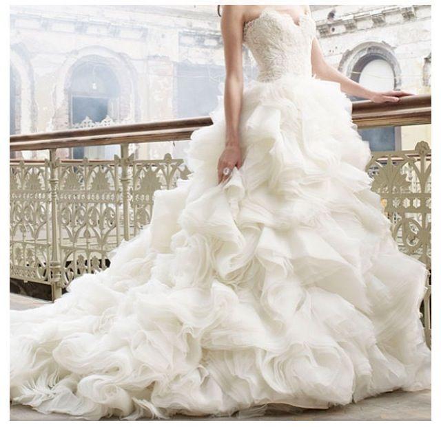 Lazaro Ball Gown Sweetheart Wedding