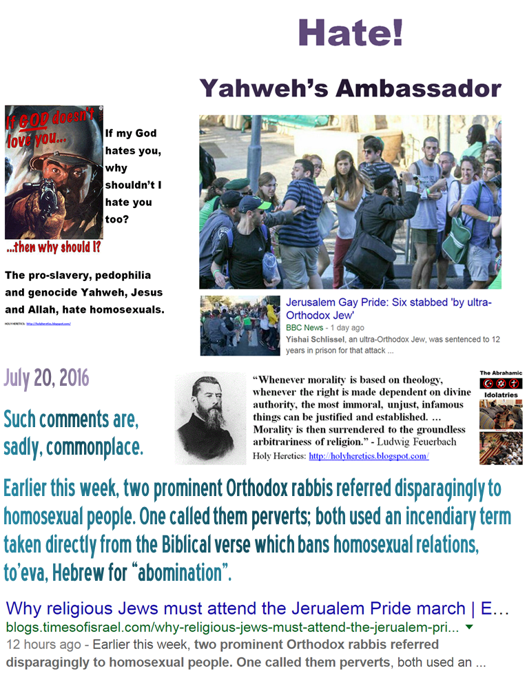 Orthodox rabbis homosexuality and christianity