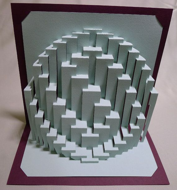 Obloid whorl kirigami paper sculpture by ullagami on for Kirigami paper art