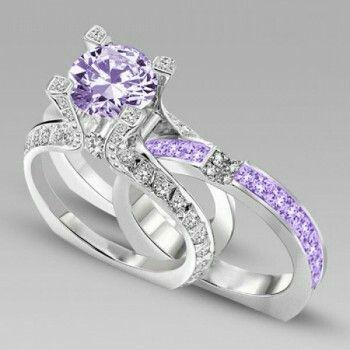 Interchangeable Round Cut Created White Sapphire Wedding Set