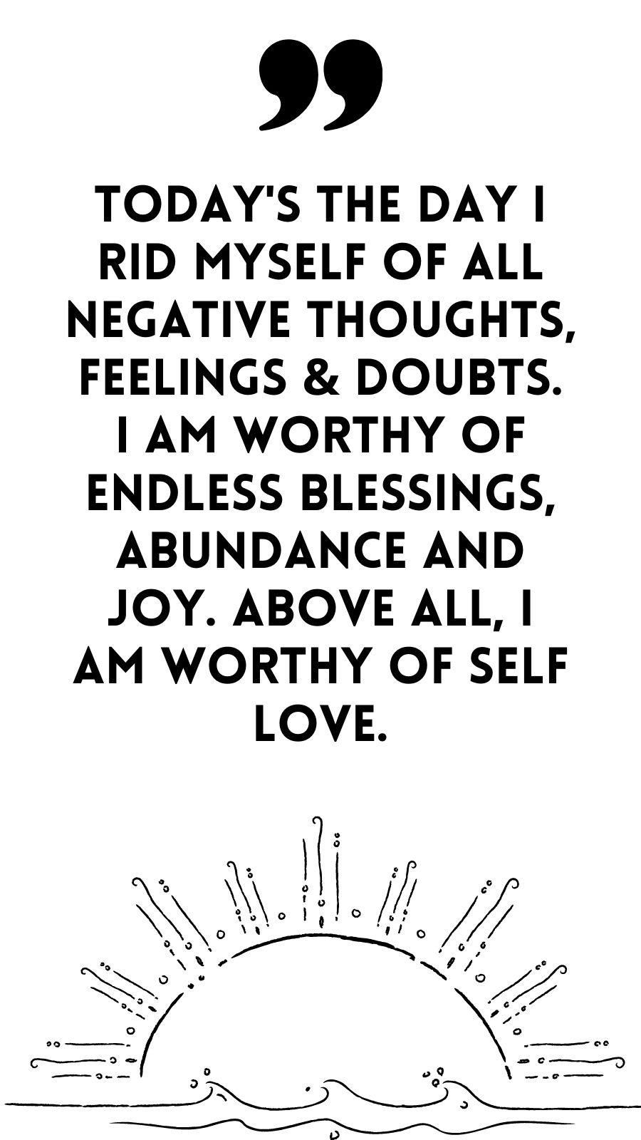 Self Love, Abundance & Joy - Motivational Inspirational Quote