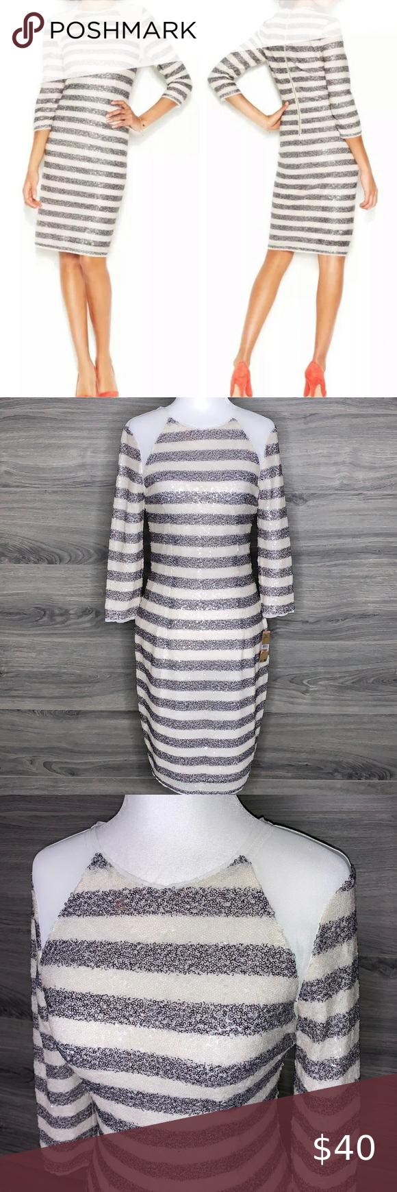 RACHEL Rachel Roy Sequined Form Fitted Dress 2