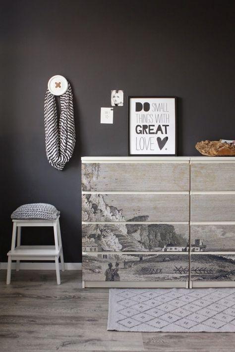 123kea sticker for ikea malm vintage drawing ikeahack dormitor idei pinterest. Black Bedroom Furniture Sets. Home Design Ideas