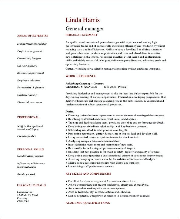Retail General Manager Resume  Retail Manager Resume Examples