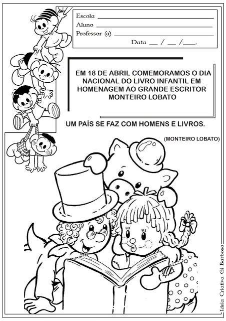 Atividade Dia Do Livro Infantil Com Imagens Atividade Dia Do