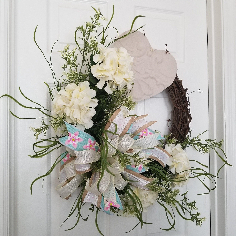 Photo of Valentine Day Wreath For Front Door, Farmhouse Wreath For Valentines Day, Valent …