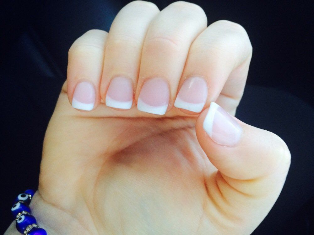 Pink Short Acrylic Nails Mintnail Xyz French Tip Acrylic Nails White Tip Acrylic Nails Short Acrylic Nails