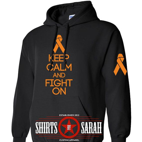Multiple Sclerosis Hoodie  Keep Calm Fight On MS by ShirtsBySarah