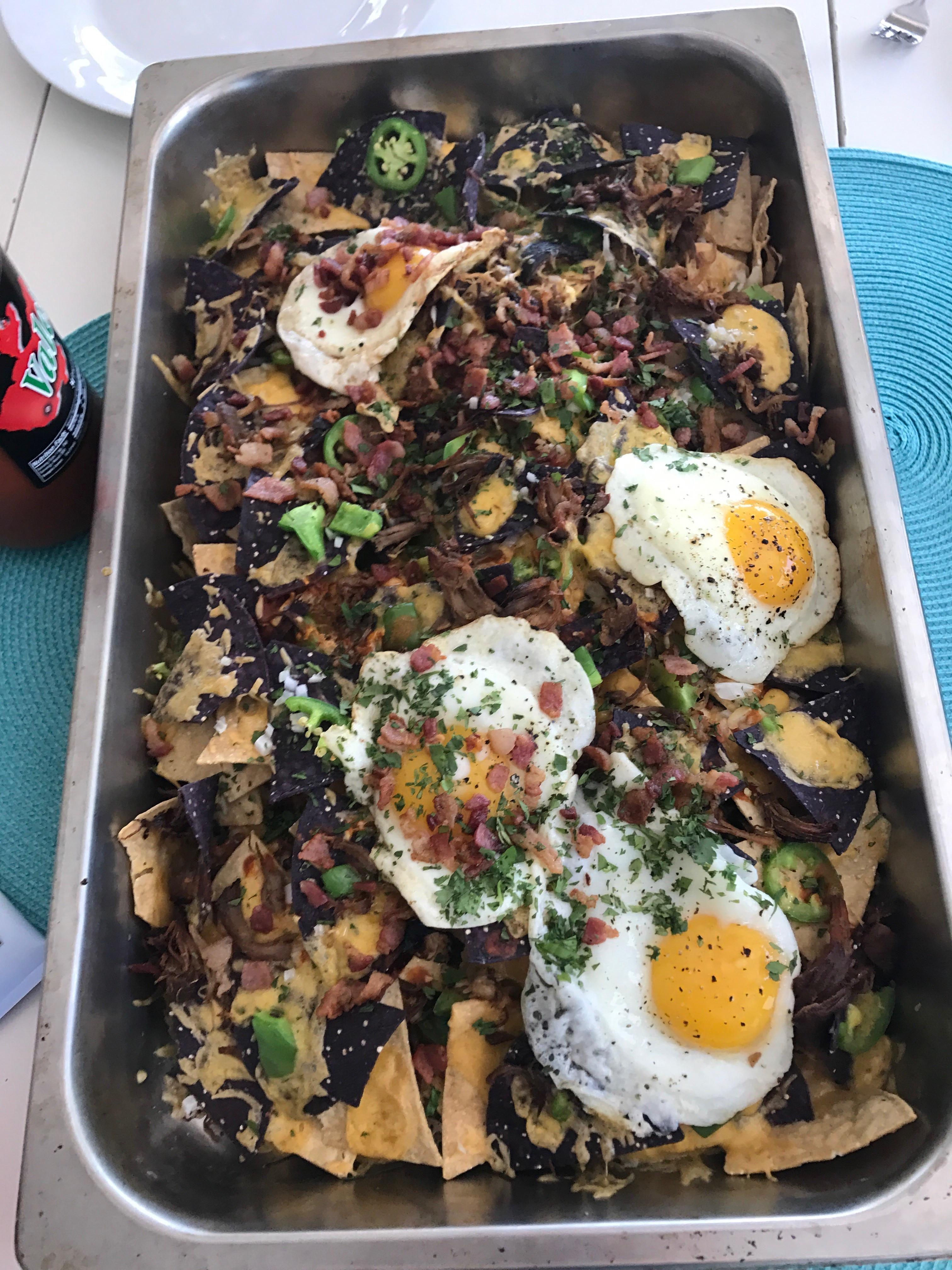 Breakfast nachos! [homemade]
