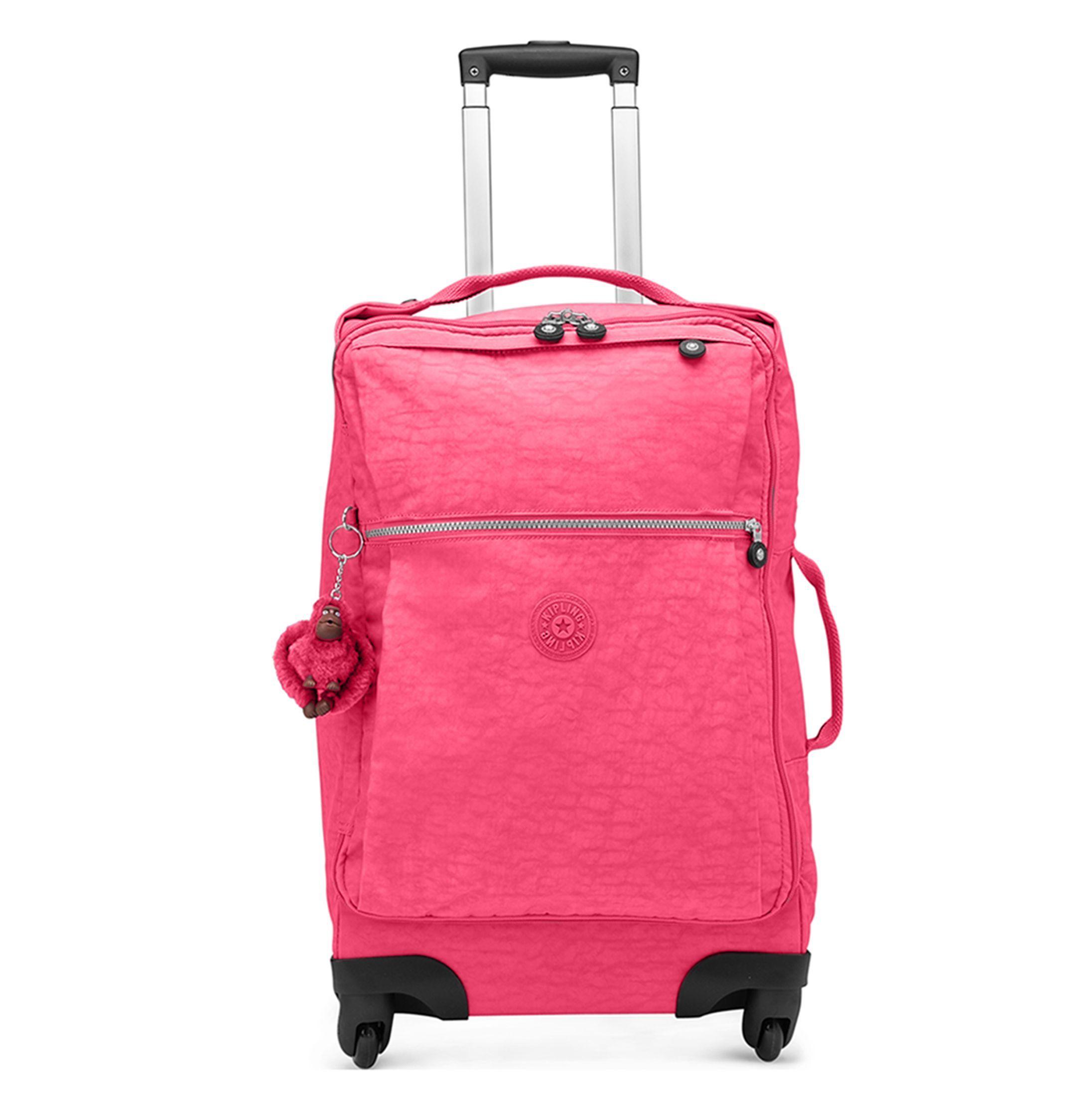 Darcey Small Wheeled Luggage Vibrant Pink Kipling
