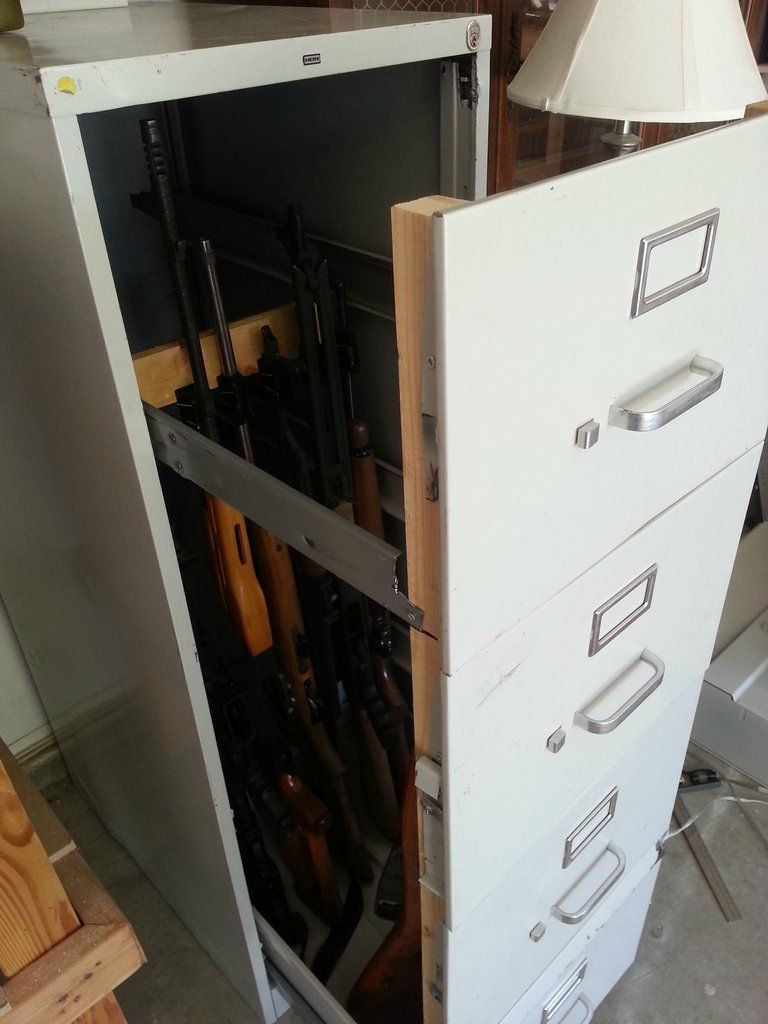 File Cabinet Turned Gun It S A Diversion Safe The Walls Are Pretty Thin