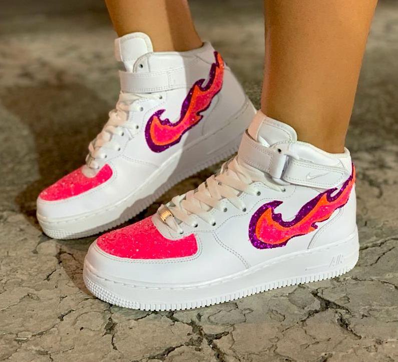 air force 1 baffo rosa