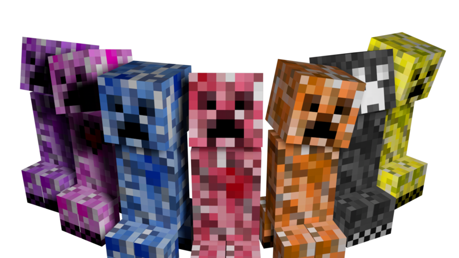 5877cc60e7fe Add many different types of creepers! Elemental Creepers Mod ...