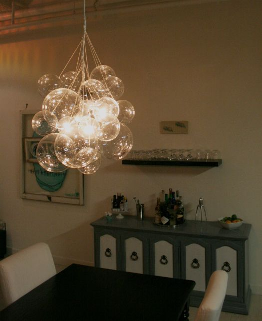 DIY Light Chandelier!!!<3 Just buy those cheap plastic clear spheres at - DIY Light Chandelier!!!<3 Just Buy Those Cheap Plastic Clear