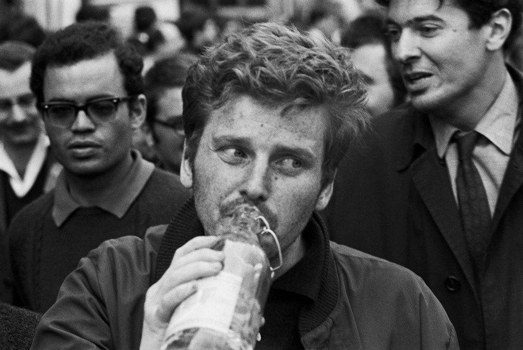 Daniel Cohn-Bendit. May. In '68. Paris, of course. Through the lens of Goksin Sipahioglu.