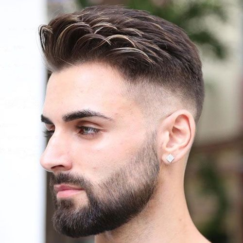 Comb Over Fade Haircut With Images Beard Styles Shape Comb