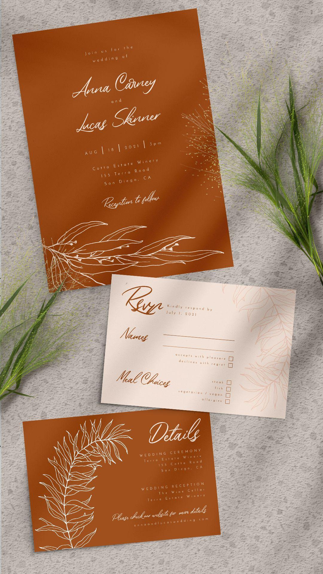 Pin On Wedding Invitation Sets