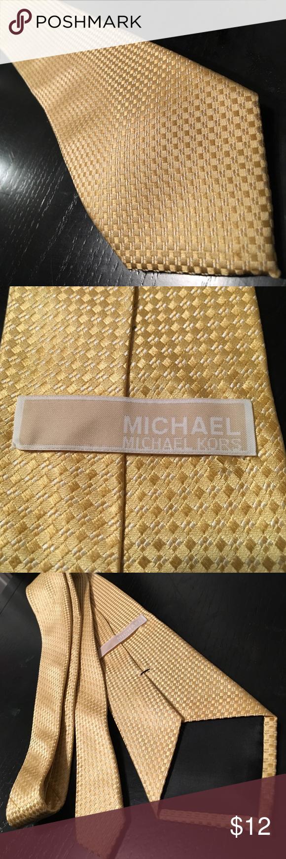 Mens Michael Kors Gold Tie Michael Kors Mens Tie. 100% Silk In great condition. MICHAEL Michael Kors Accessories Ties