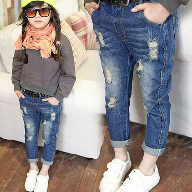 aae60835d3 Fashion Casual 2018 Autumn Spring Baby Toddler Kids Girls Denim Pants Girls  Jeans Kids Pants Children s Long Trousers JW3270A
