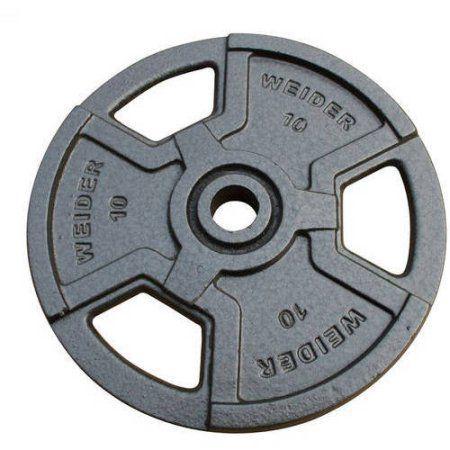 Weider Standard Hammertone Weight Plate, Black, Gray
