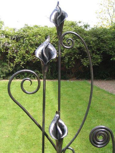 High Quality Blacksmith Made Cala LIlies U0026 Wiggle Stems By Adrian The Smith At Trinity  Forge, Via