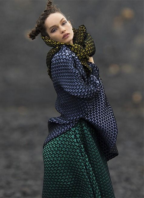 Clothing By Baking It In An Oven By Issey Miyake: Pin By Vickie Tveekrem On PRINTS AND PATTERNS.