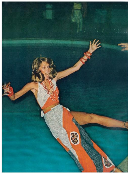 haute mess by Helmut Newton, Hawaii, 1973