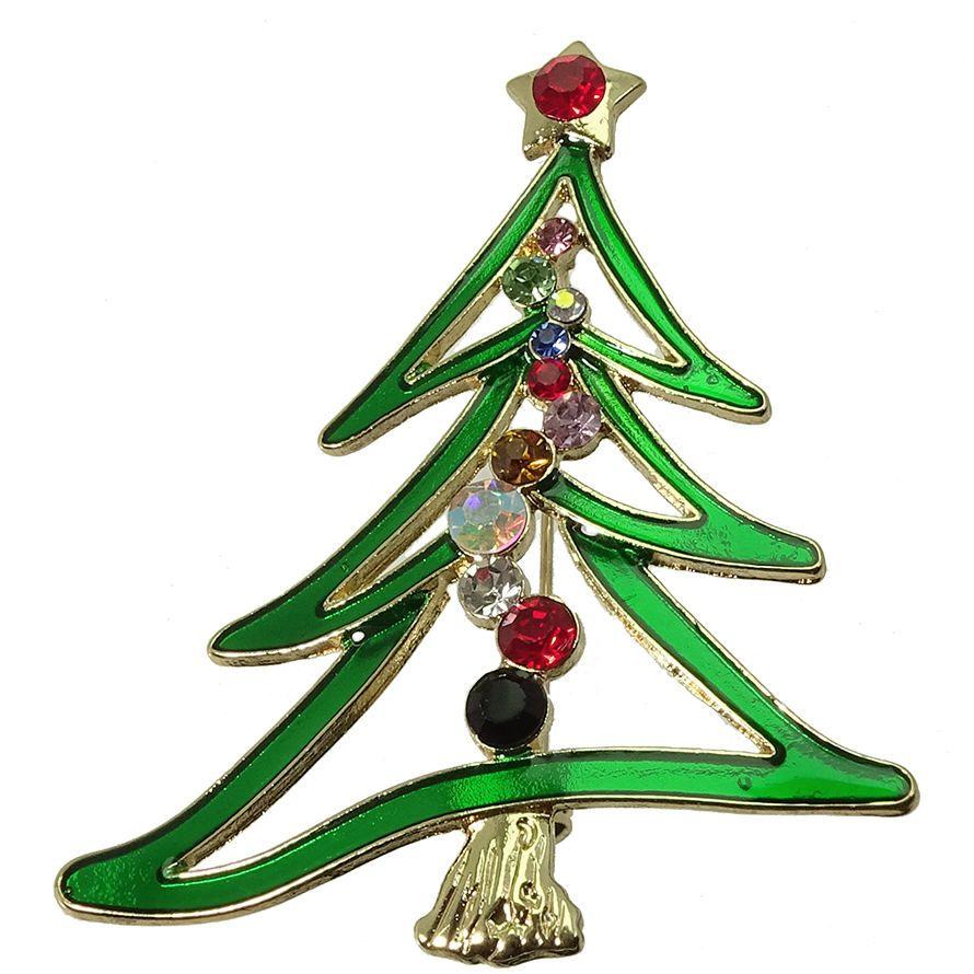 Moderne Christbaumbrosche - eine von vielen Weihanchtsbrischen be uns im Shop!