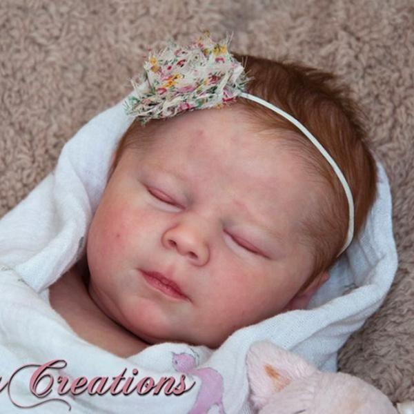 ~Laila Asleep~ Realborn Reborn kit by Bountiful Baby *Blank vinyl kit*