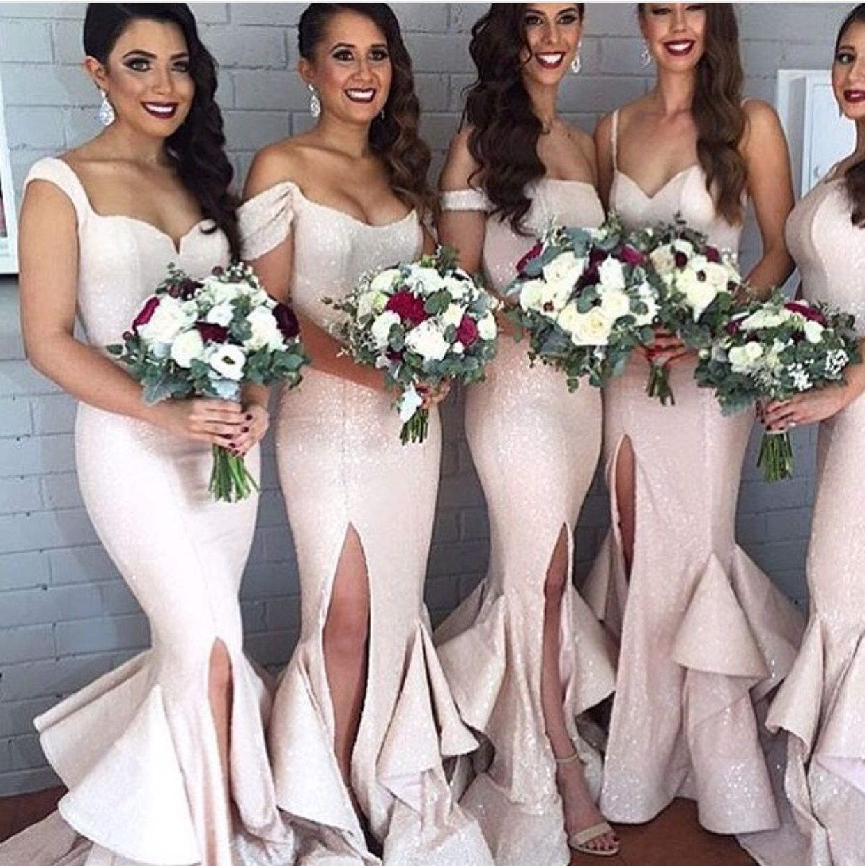 Pinterest girlynpink98 dress pinterest wedding weddings but for real these bridesmaids dresses slay ombrellifo Images