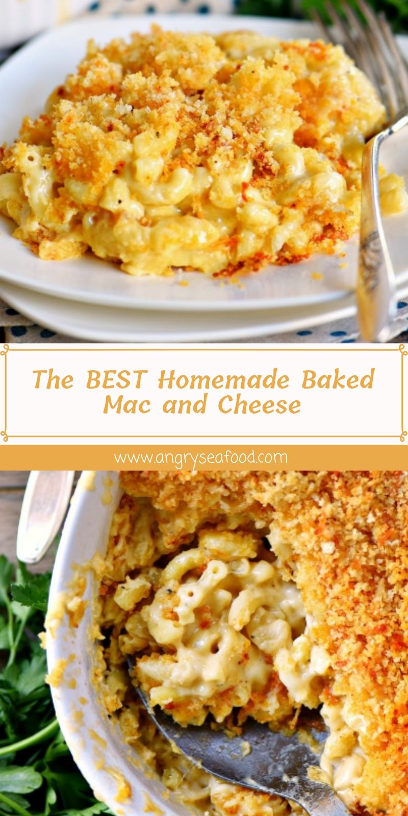 The BEST Homemade Baked Mac and Cheese #macandcheeserecipe