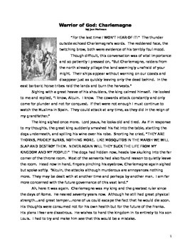 charlemagne historical fiction reading essay and primary source  was charlemagne a great christian king that is the topic this short  historical fiction piece and essay makes students grapple with