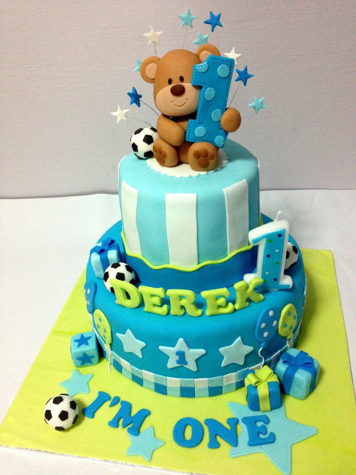 Prime Happy 1St Birthday Derek With Images Baby Birthday Cakes Funny Birthday Cards Online Alyptdamsfinfo