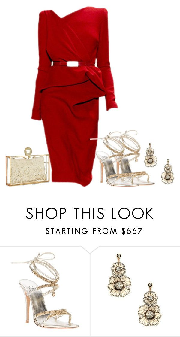"""Elie Saab (My Boo)"" by konata-phenomenalstyle ❤ liked on Polyvore featuring Stuart Weitzman and Charlotte Olympia"