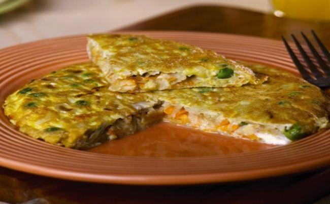 Tortilla de papa y verduras