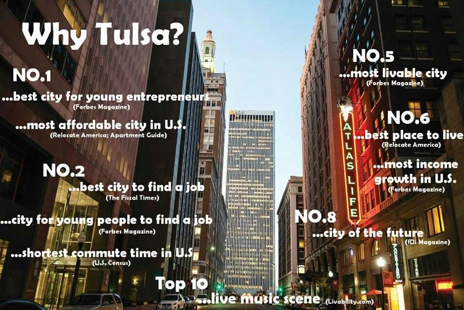Why Tulsa, you ask? Tulsa Best places to live, Best