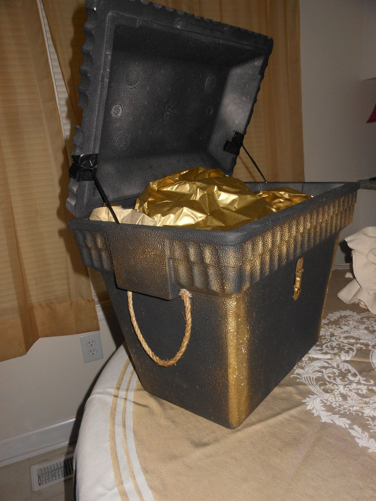 Pirate Theme Party Decoration Ideas Part - 40: Cooler Painted Like A Pirates Chest. Pirate Theme, Pirate Birthday ...