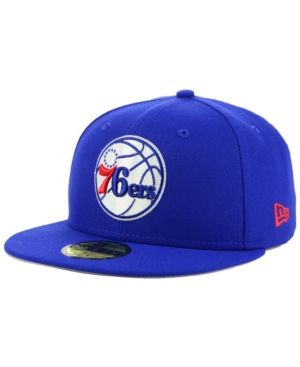 New Era Philadelphia 76ers Basic 59FIFTY Fitted Cap 2018 - Blue 7 3 ... 1a10bdcf235a