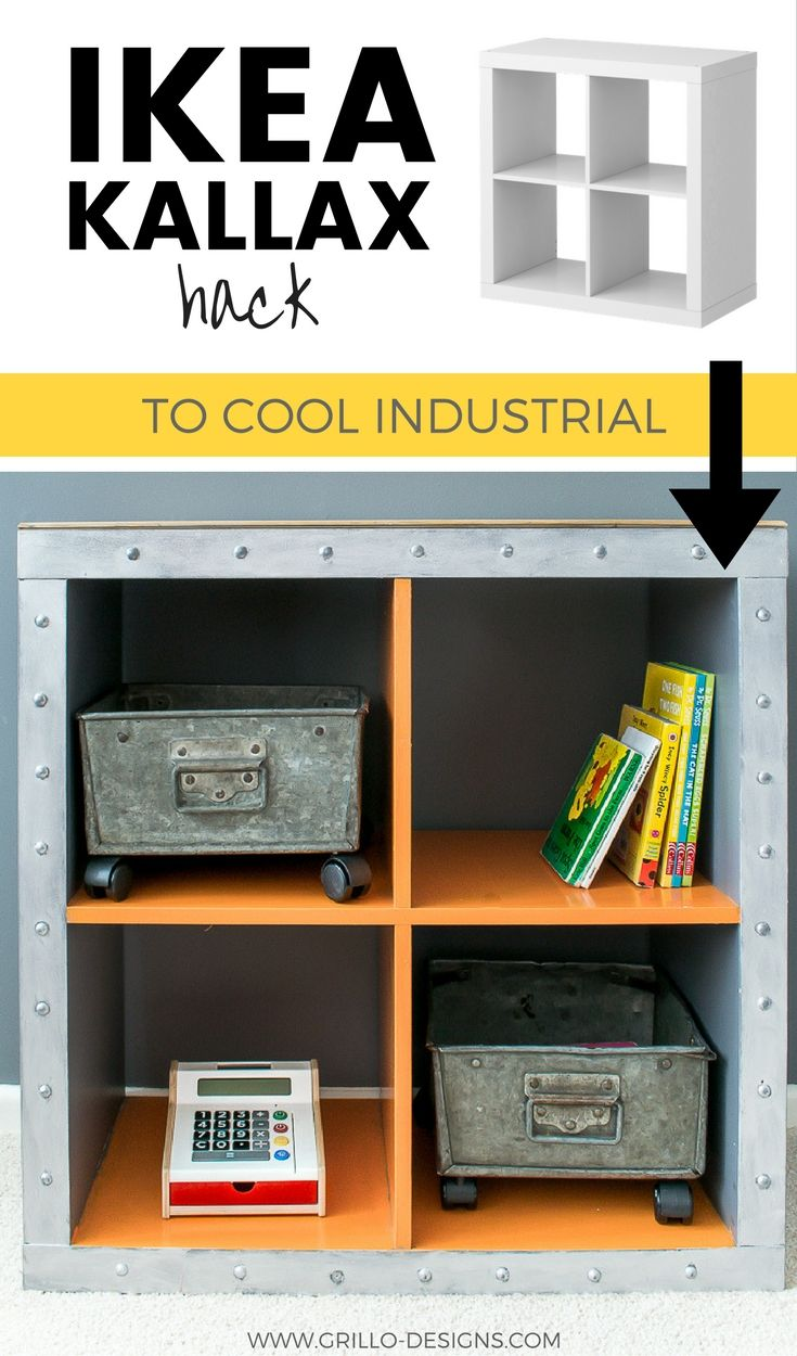ikea kallax hack - industrial storage for a boys bedroom | decor