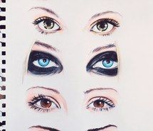 Inspiring picture Taylor Momsen, kaya scoodelario, draw, eyes, leighton meester, lana del rey, guess and tag. Resolution: 500x646. Find the picture to your taste!