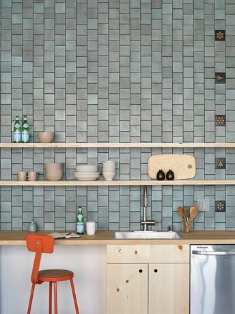Installation Inspiration Heath Ceramics 4x4 Layered Glaze Tiles Chalk Gunmetal With