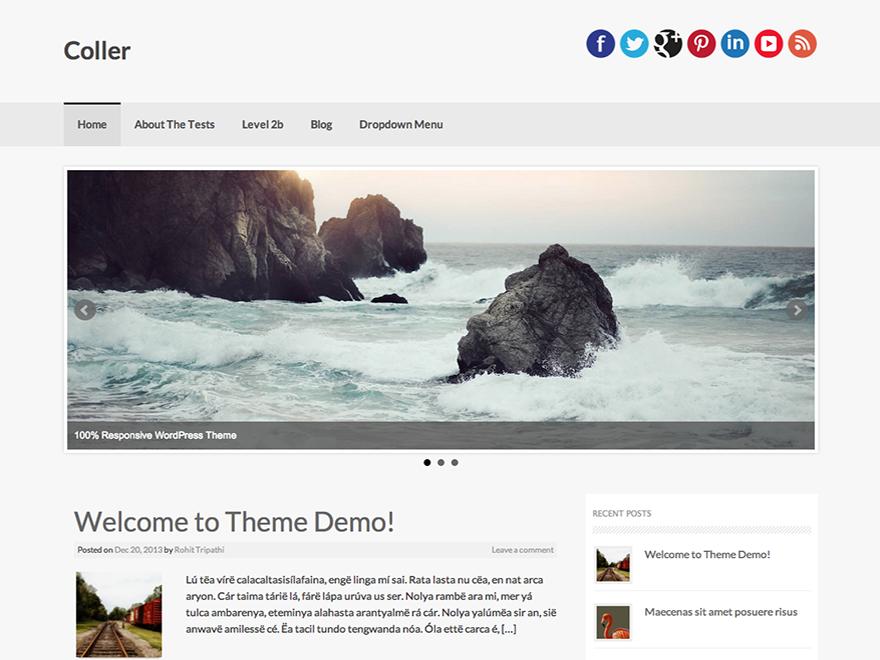 WordPress › Coller « Free WordPress Themes   WordPress themes ...