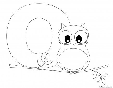 Printable Animal Alphabet worksheets Letter O is for Owl ...