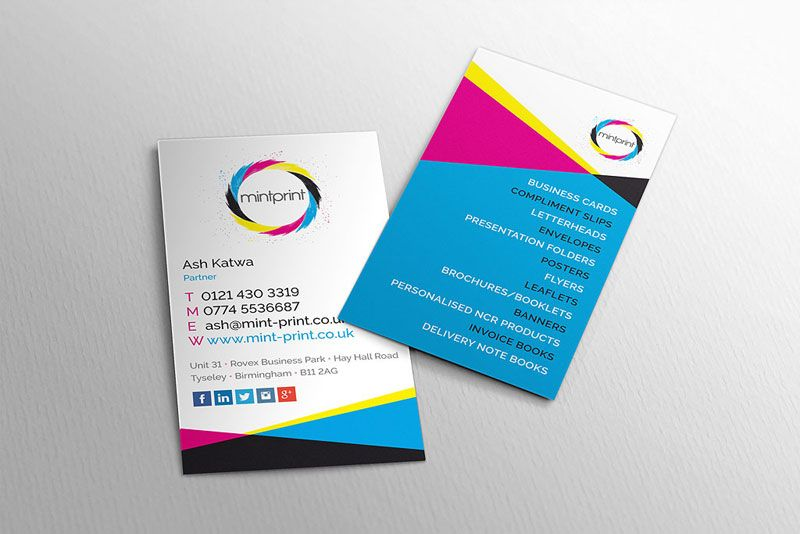 Mint print business card design design type leaflets pinterest mint print business card design reheart Gallery