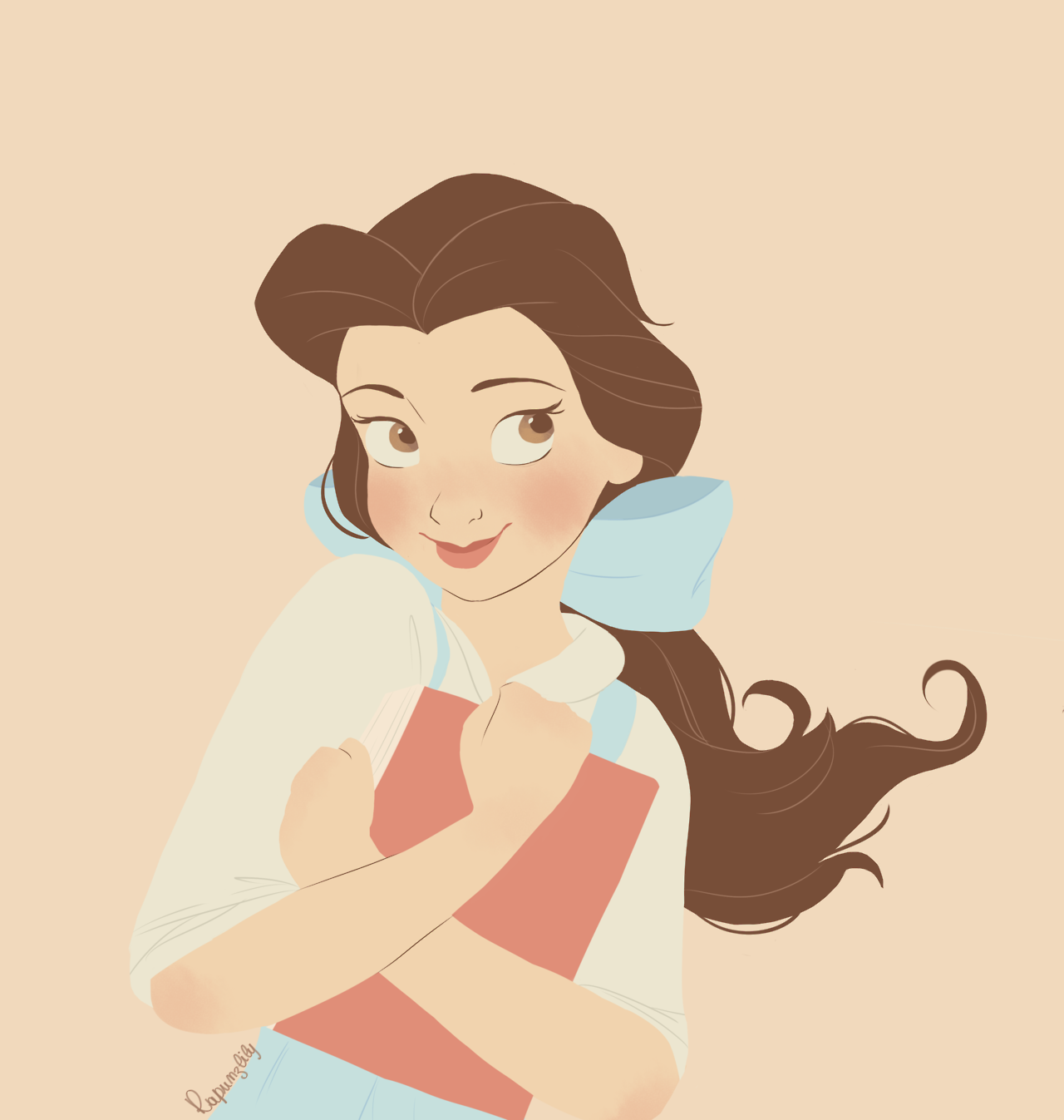 Belle With Palette 16 Rapunzlily Tumblr