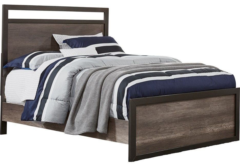 Best Colefax Avenue Gray 3 Pc Full Panel Bed Luxury Bedroom 640 x 480