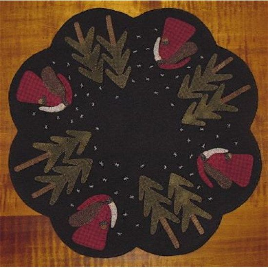 Kitold St Nick Table Mat Applique Pattern By
