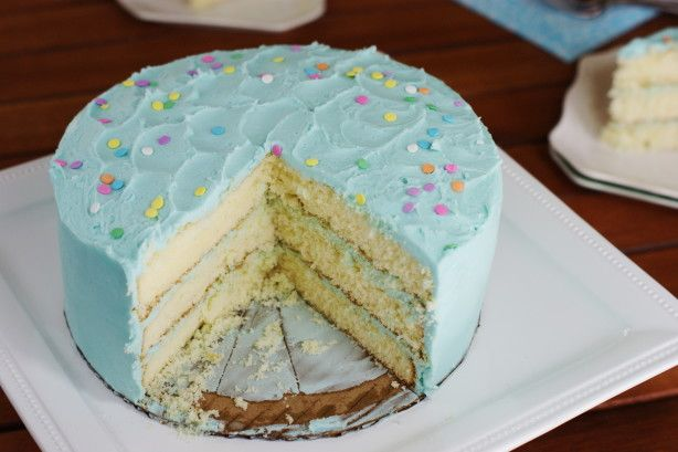 Tremendous Magnolia Bakerys Vanilla Birthday Cake And Frosting Recipe Personalised Birthday Cards Beptaeletsinfo